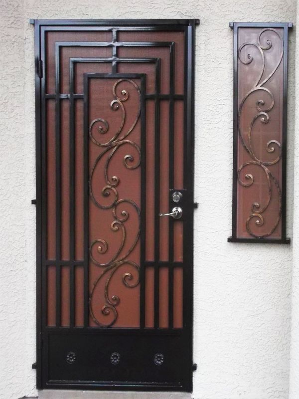 Scrollwork Prato Window Guard WG0902 Wrought Iron Design In Las Vegas