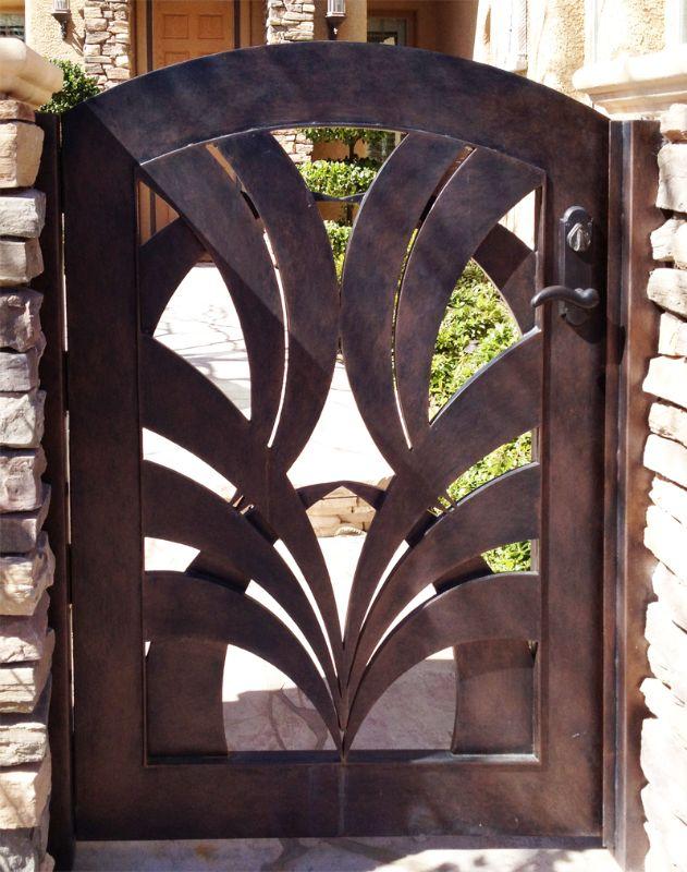 Modern Single Gate - Item TunisaSG0286 Wrought Iron Design In Las Vegas