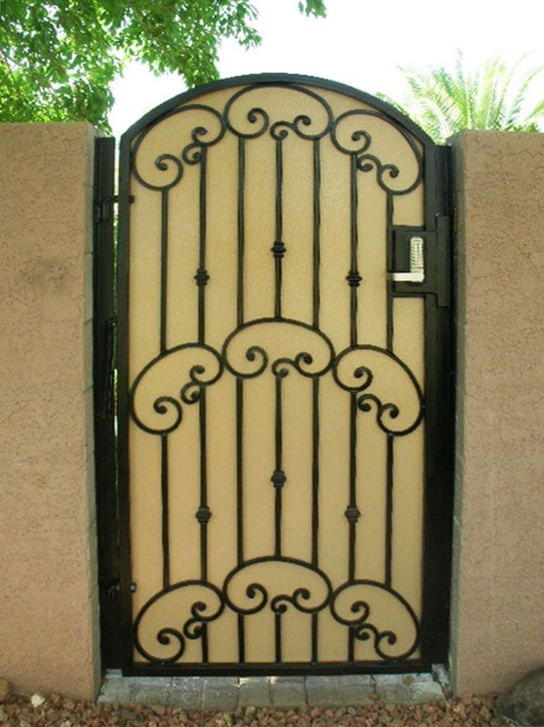 Traditional Single Gate - Item Valetta SG0189 Wrought Iron Design In Las Vegas
