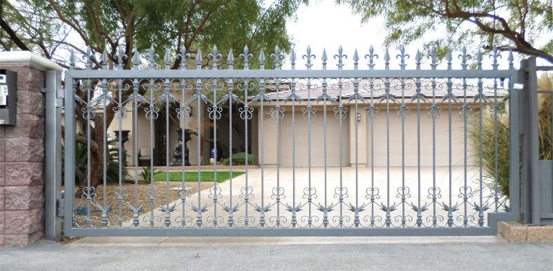Traditional Single Gate - Item Versailles SG0464 Wrought Iron Design In Las Vegas