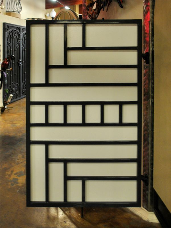 Modern Single Gate - Item VivaSG0435BW Wrought Iron Design In Las Vegas