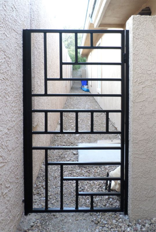 Modern Single Gate - Item Viva SG0435 Wrought Iron Design In Las Vegas