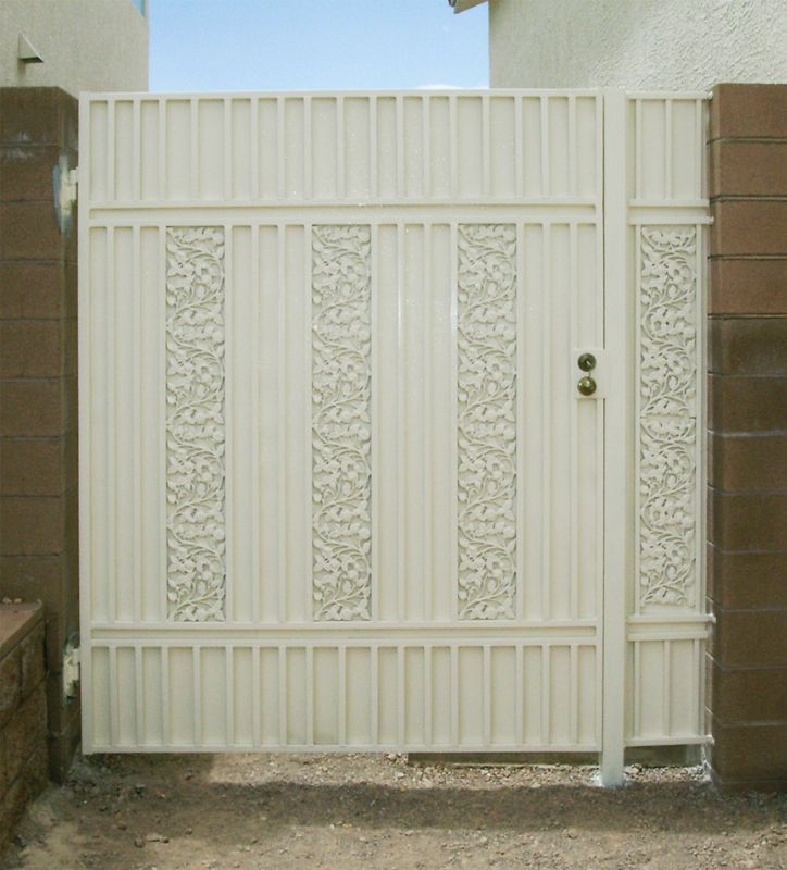 Traditional Single Gate - Item Vivian SG0135A Wrought Iron Design In Las Vegas