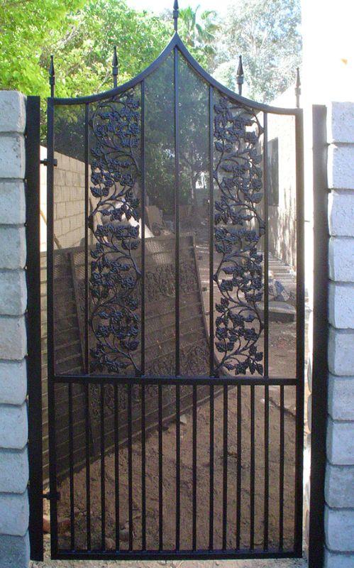 Traditional Single Gate - Item Vivian SG0367 Wrought Iron Design In Las Vegas