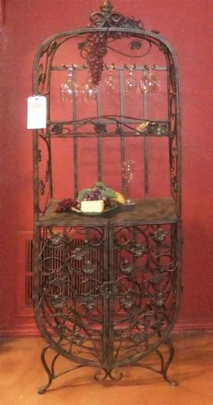 Wine Rack - Item WR0004 Wrought Iron Design In Las Vegas
