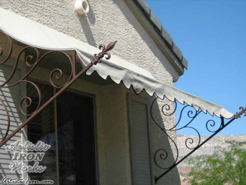 Wrought Iron Awning AW0007