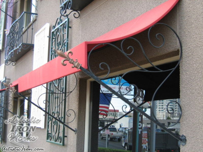 Wrought Iron Awning AW0008