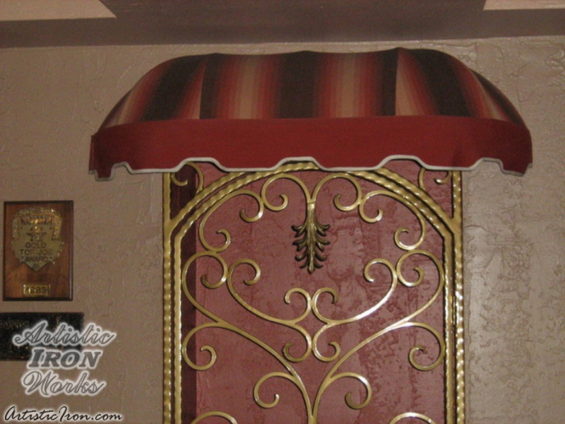 Wrought Iron Awning AW0009