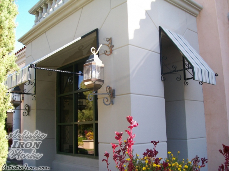 Wrought Iron Awning AW0010