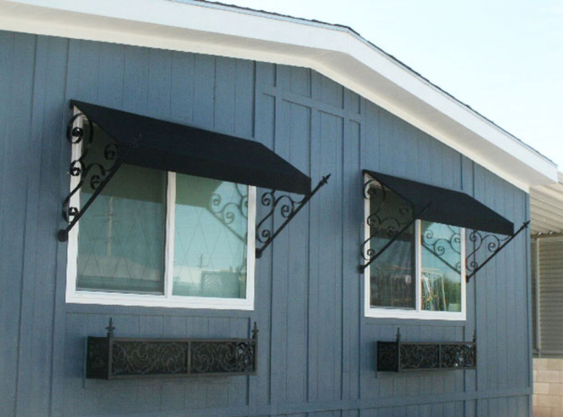 Wrought Iron Awning - Item AW0013 Wrought Iron Design In Las Vegas