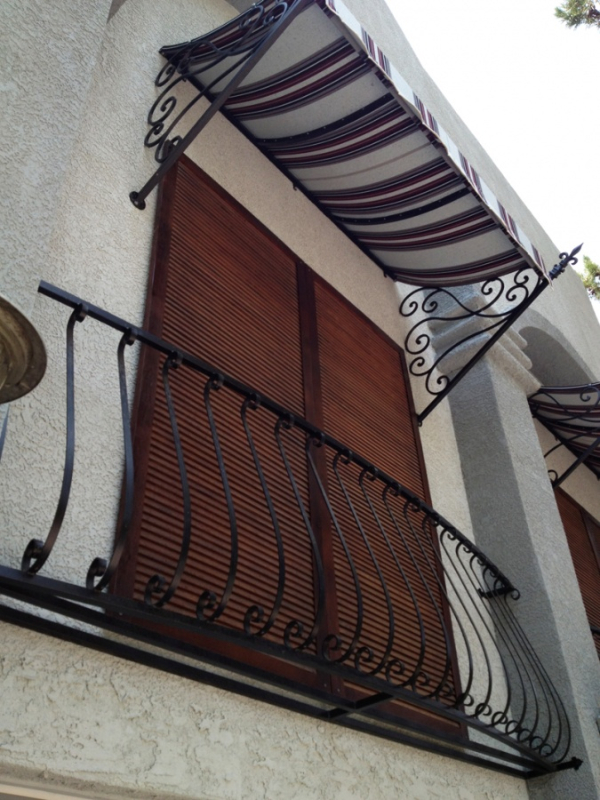 Wrought Iron Awning AW0016