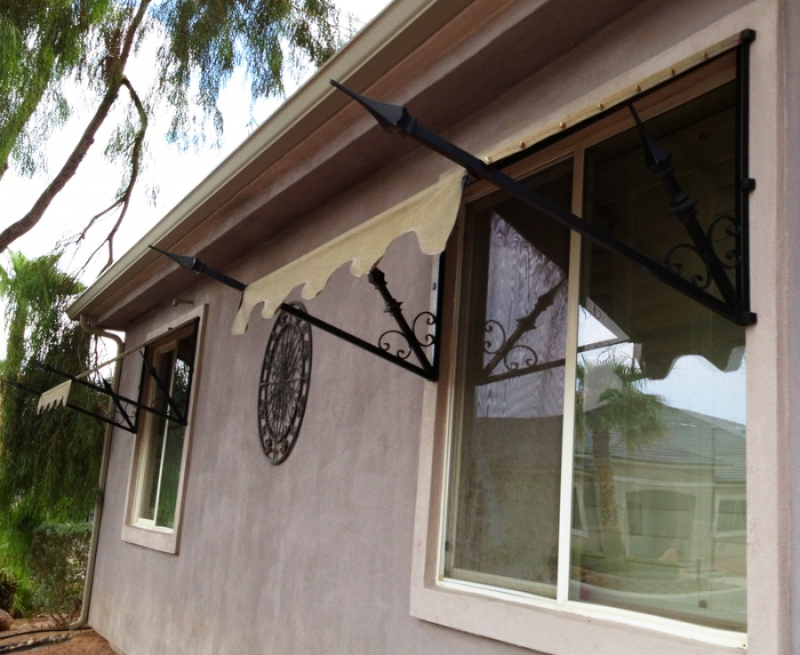 Wrought Iron Awning AW0017