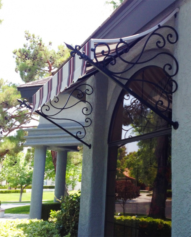 Wrought Iron Awning AW0018