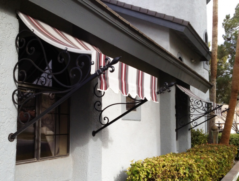 Wrought Iron Awning AW0023