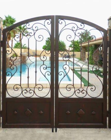Wrought Iron Double Gates LV_1 Wrought Iron Design In Las Vegas