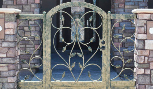 Wrought Iron Front Gate Wrought Iron Design In Las Vegas