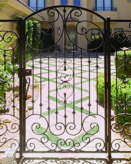 Wrought Iron SIngle Gate LV Wrought Iron Design In Las Vegas