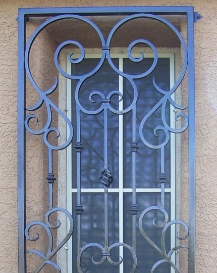 Wrought Iron Window Guards LV
