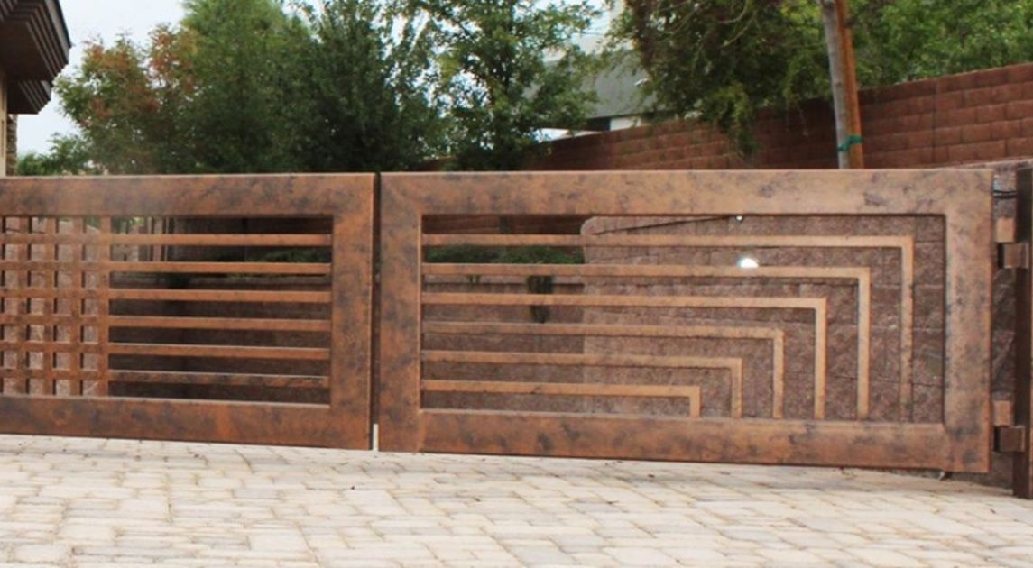 Automated Gate Closed Wrought Iron Design In Las Vegas