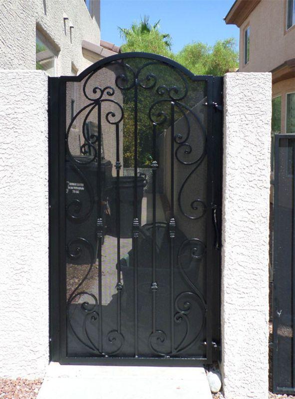 Scrollwork Single Gate - Item CorsicaSG0501 Wrought Iron Design In Las Vegas