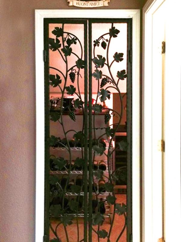wine cellar doors WCD015 Wrought Iron Design In Las Vegas