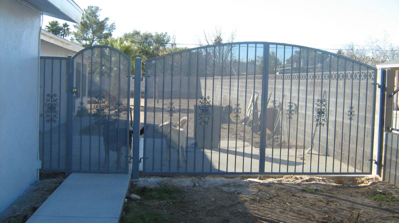Econo-Line Double Gate - Item DG0063 Wrought Iron Design In Las Vegas