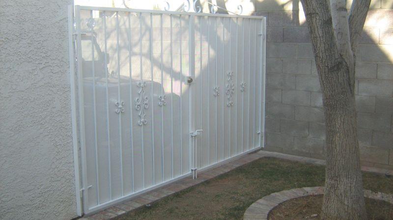 Econo-Line Double Gate - Item DG0071 Wrought Iron Design In Las Vegas