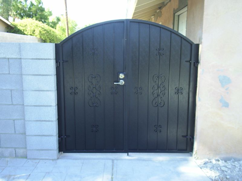 Econo-Line Double Gate - Item DG0093 Wrought Iron Design In Las Vegas