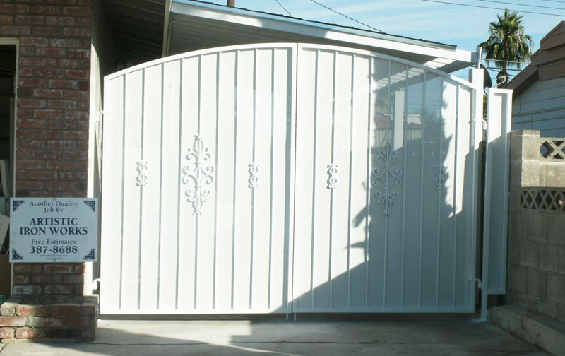 Econo-Line Double Gate - Item DG0110 Wrought Iron Design In Las Vegas