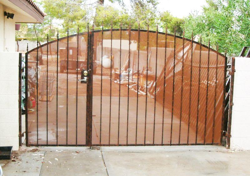 Econo-Line Double Gate - Item DG0112 Wrought Iron Design In Las Vegas