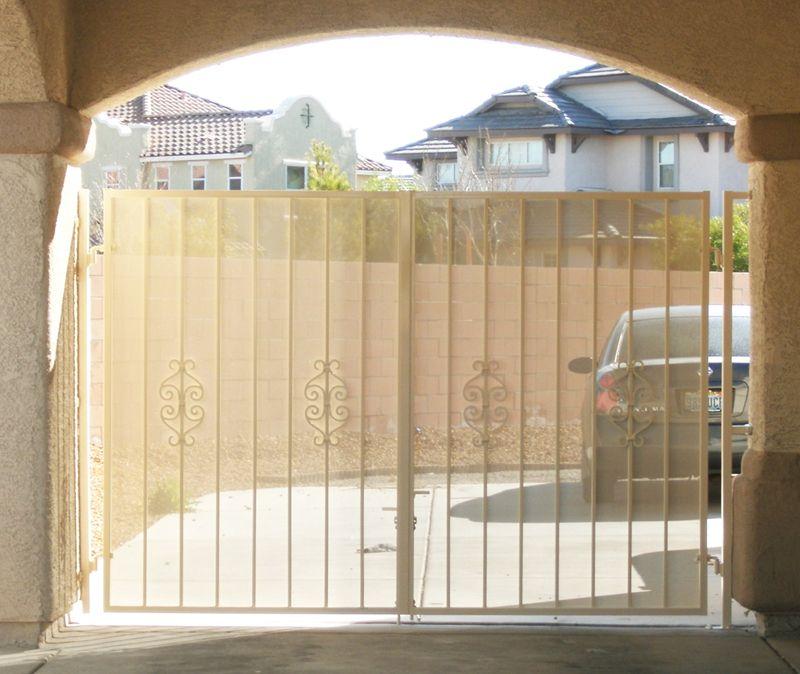 Econo-Line Double Gate - Item DG0116 Wrought Iron Design In Las Vegas