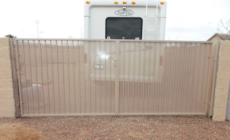 Econo-Line Double Gate - Item DG0118 Wrought Iron Design In Las Vegas
