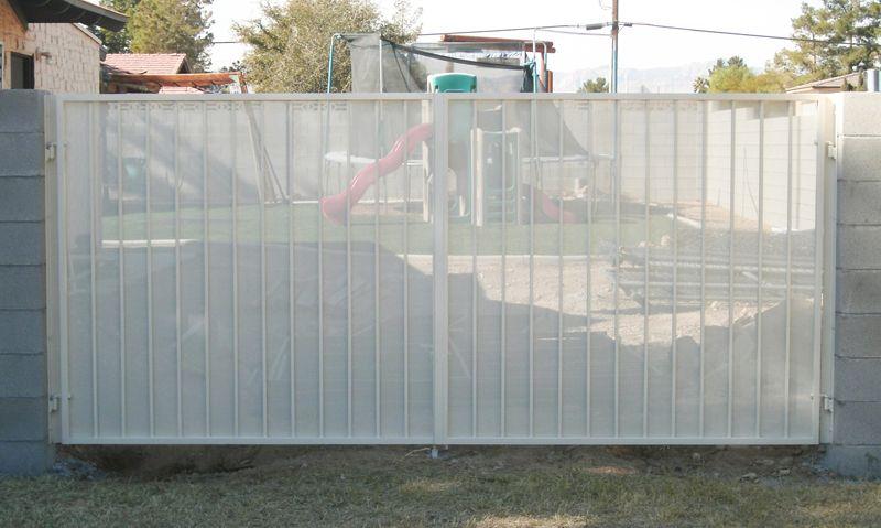Econo-Line Double Gate - Item DG0119 Wrought Iron Design In Las Vegas