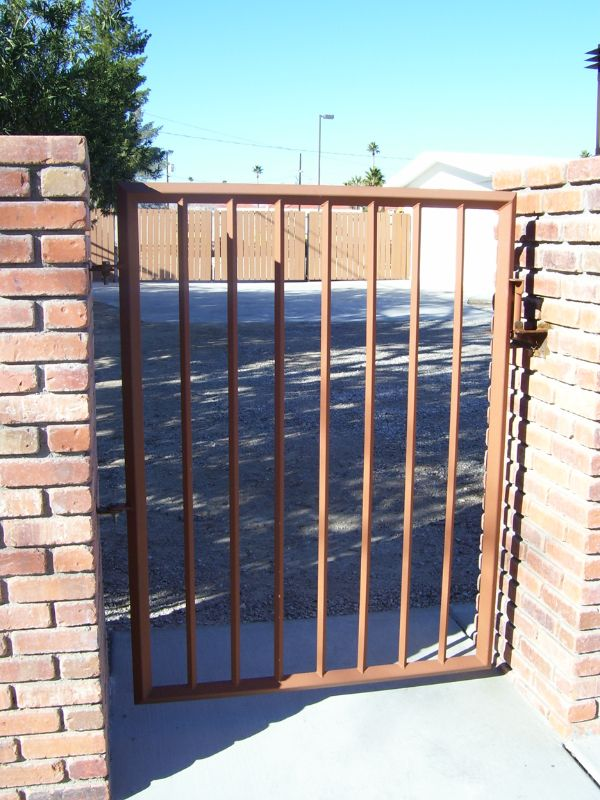 Econo-line Single Gate - Item SG0132 Wrought Iron Design In Las Vegas