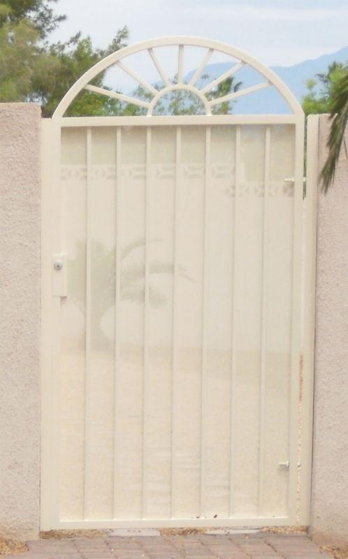 Econo-line Single Gate - Item SG0176 Wrought Iron Design In Las Vegas