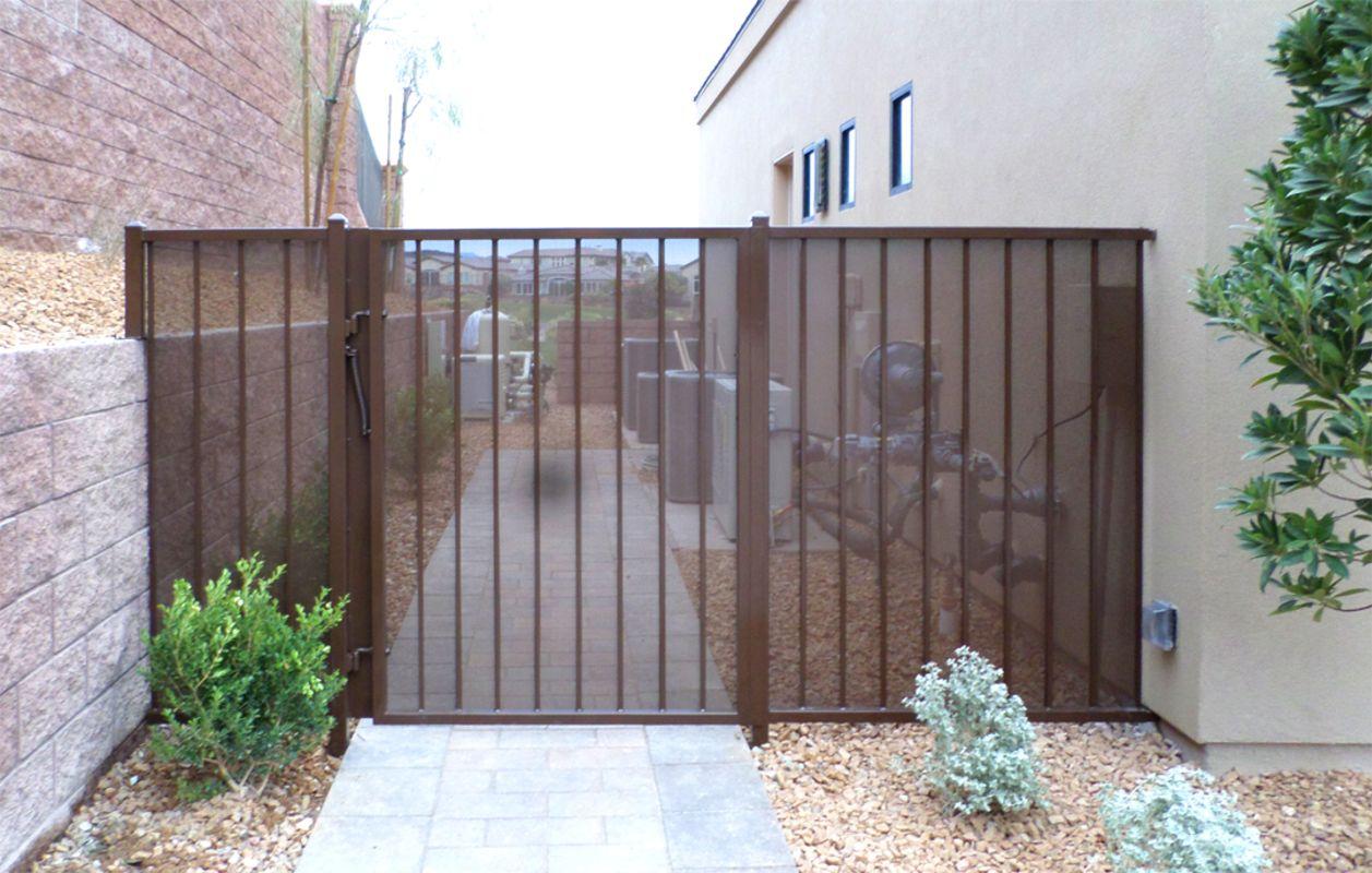Econo-line Single Gate - Item SG0442A Wrought Iron Design In Las Vegas