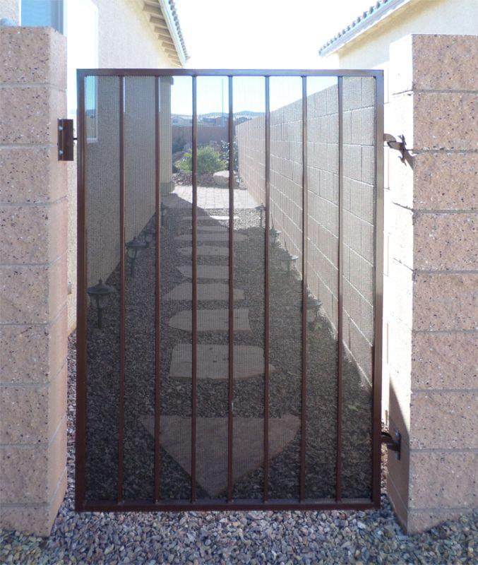 Econo-line Single Gate - Item SG0442 Wrought Iron Design In Las Vegas