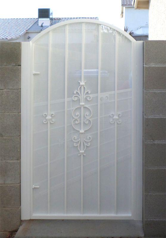 Econo-line Single Gate - Item SG0454 Wrought Iron Design In Las Vegas