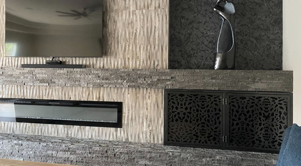 Do You Need A Fireplace Cover? Wrought Iron Design In Las Vegas