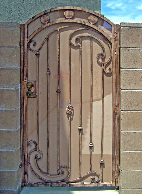 Traditional Single Gate - Item Gentry SG0041 Wrought Iron Design In Las Vegas