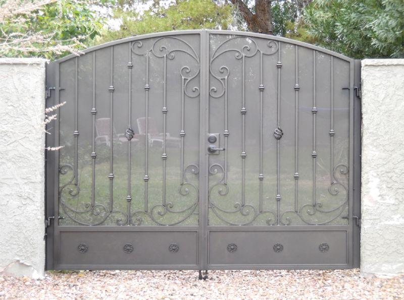 Traditional Double Gate - Item PapillionDG0330 Wrought Iron Design In Las Vegas