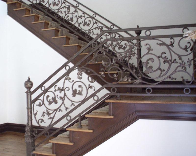 Scrollwork-Interior Railing-Item IR0098 Wrought Iron Design In Las Vegas