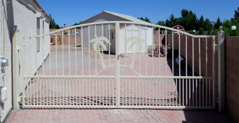Nature Inspired Double Gate - Item Sandy BeachesDG0298 Wrought Iron Design In Las Vegas