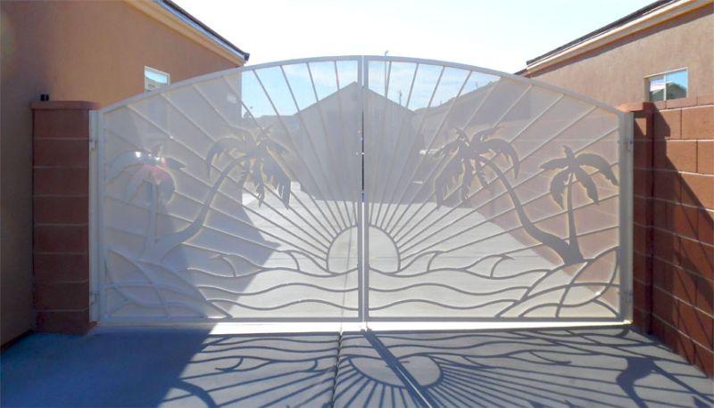 Nature Inspired Double Gate - Item Sandy BeachesDG0323 Wrought Iron Design In Las Vegas