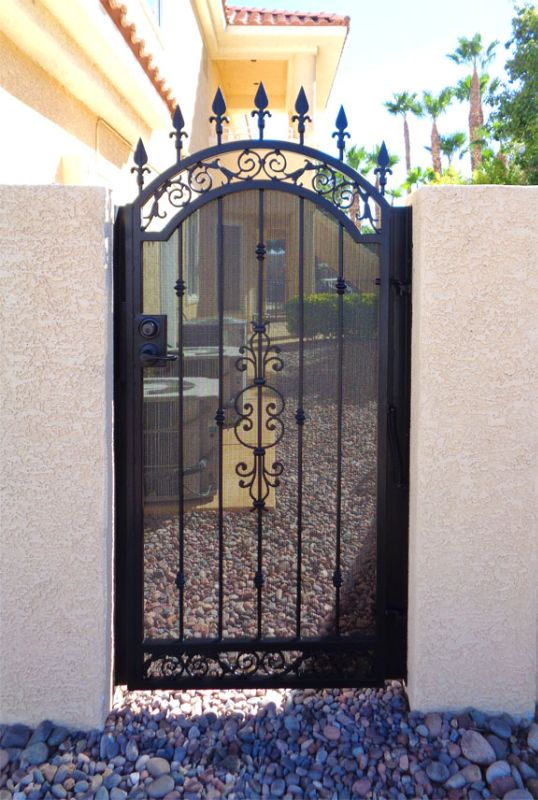 Traditional Single Gate - Item Santiago SG0119A Wrought Iron Design In Las Vegas