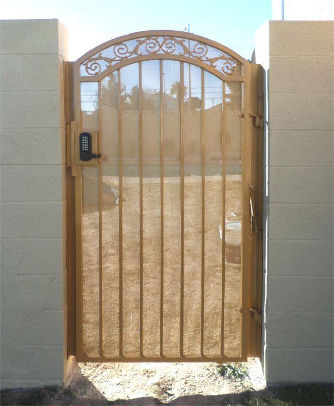 Traditional Single Gate - Item Santiago SG0149A Wrought Iron Design In Las Vegas