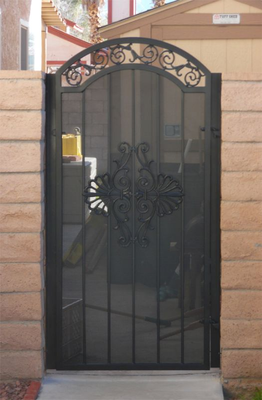 Traditional Single Gate - Item Santiago SG0529 Wrought Iron Design In Las Vegas