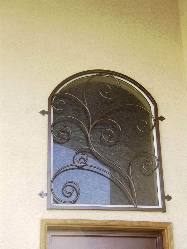 scrollwork Window Guard WG0015 Wrought Iron Design In Las Vegas