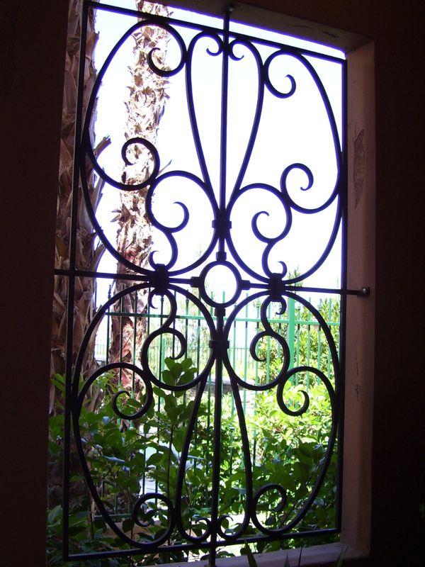 scrollwork Window Guard WG0016 Wrought Iron Design In Las Vegas
