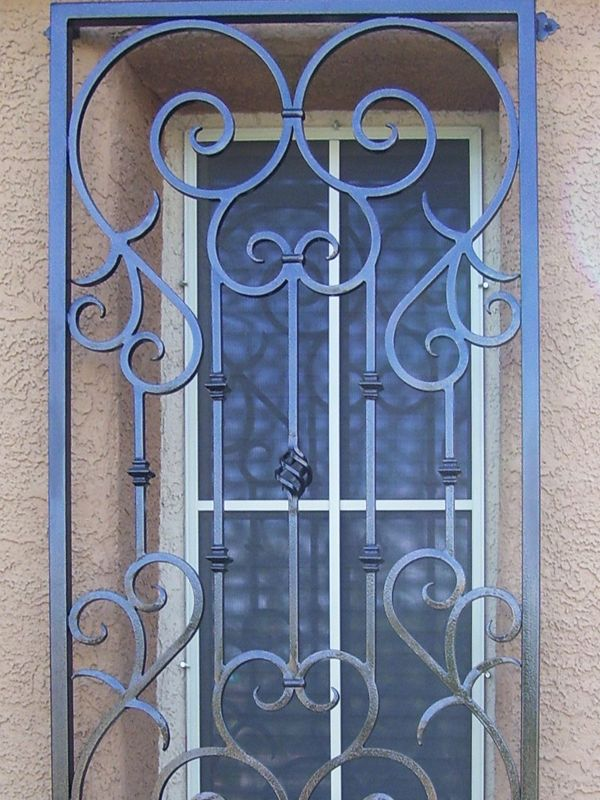 Scrollwork Window Guard WG0019 Wrought Iron Design In Las Vegas